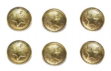 Texas Confederate Small Frock Coat Or Shell Jacket Cuff Buttons x 6
